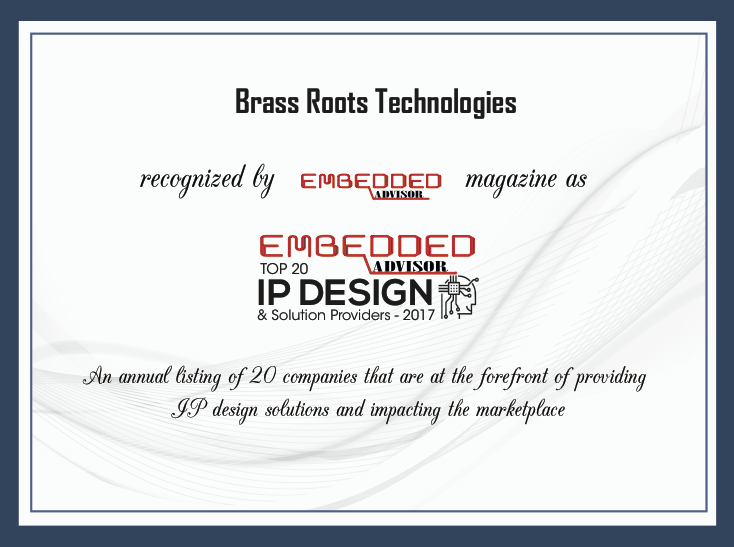 Top 20 IP Design & Solutions Providers 2017 Certificate